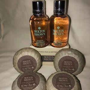 Molten Brown 7 piece travel set.